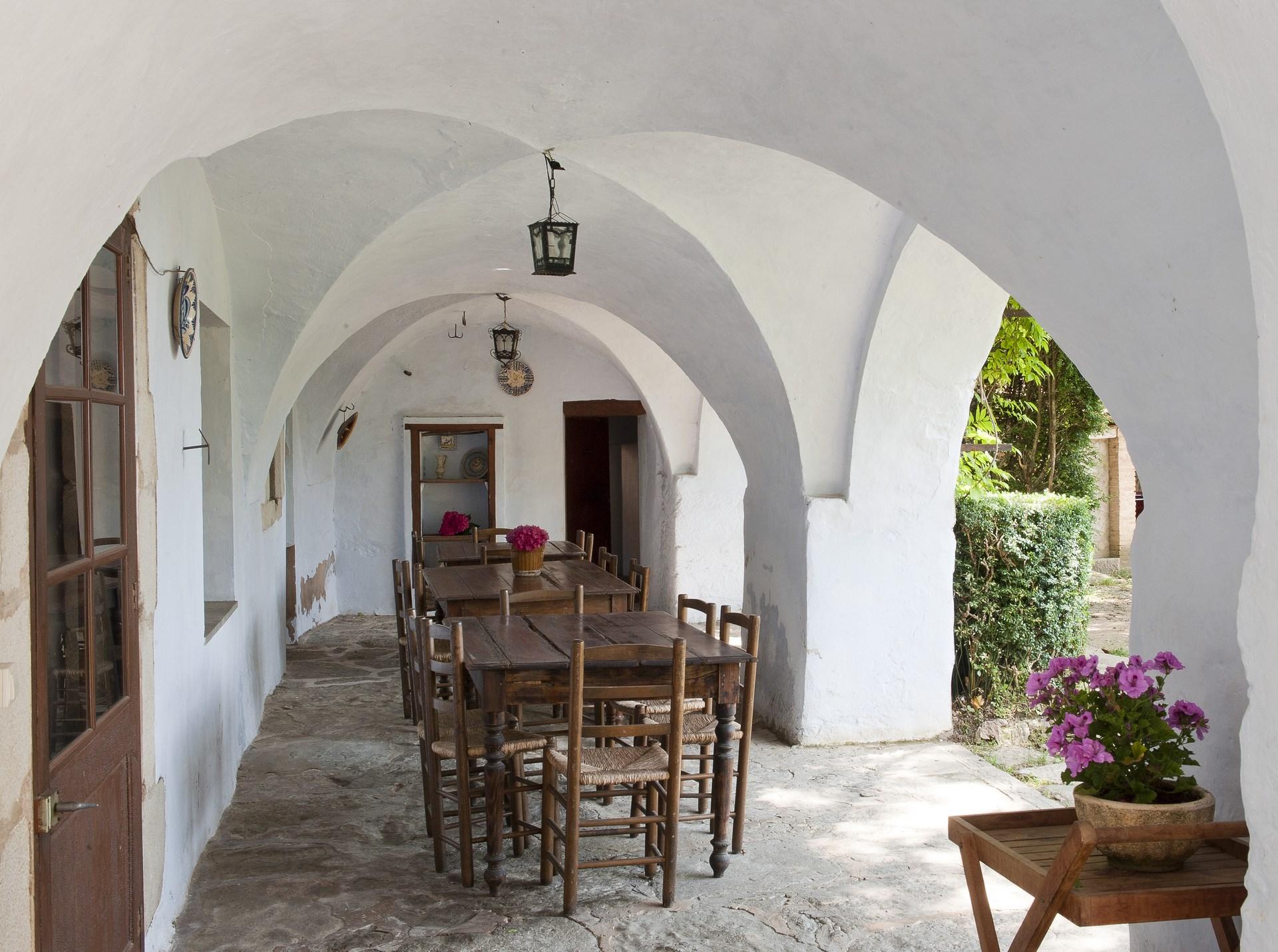 Casa Prat - galeria al jardí